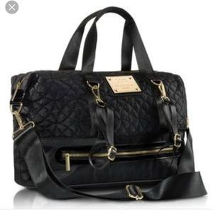 NWT MB Krauss NY gym bag black quilted diaper bag